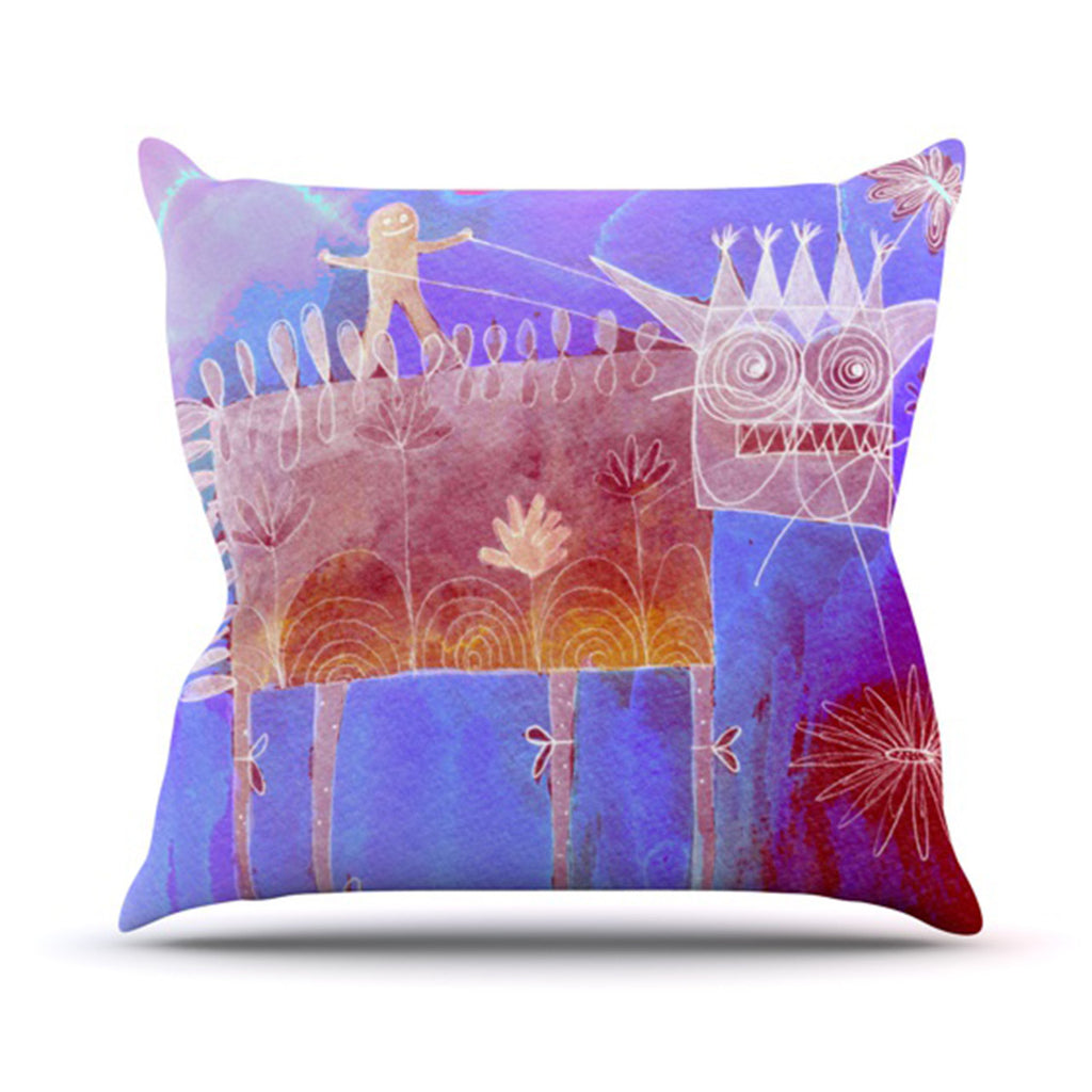 "Marianna Tankelevich ""Scary Song About Love"" Throw Pillow - KESS InHouse  - 1"