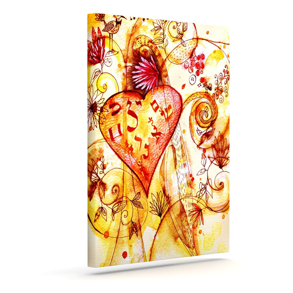 "Marianna Tankelevich ""Tree of Love"" Outdoor Canvas Wall Art - KESS InHouse  - 1"