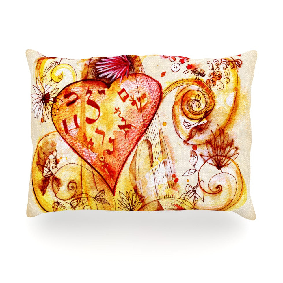 "Marianna Tankelevich ""Tree of Love"" Oblong Pillow - KESS InHouse"
