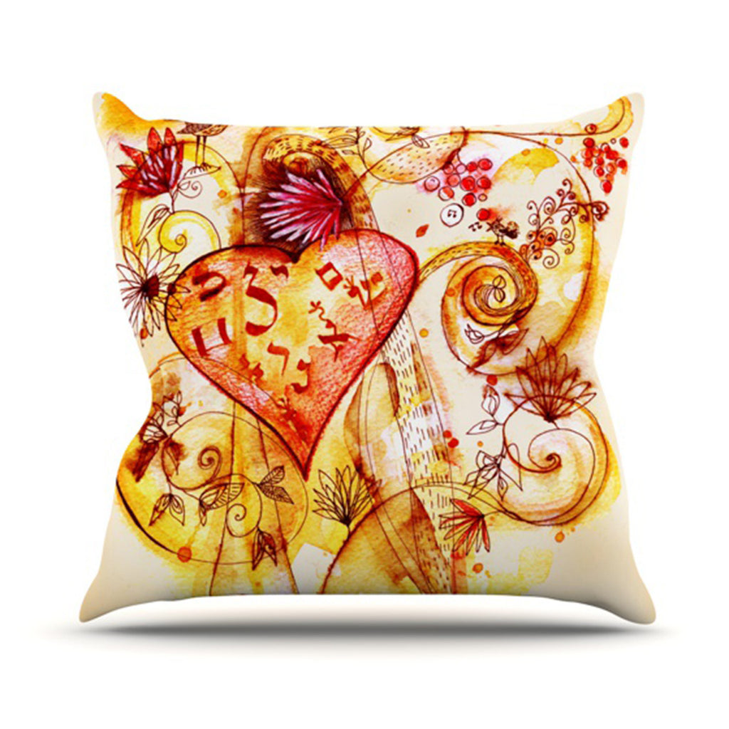 "Marianna Tankelevich ""Tree of Love"" Throw Pillow - KESS InHouse  - 1"