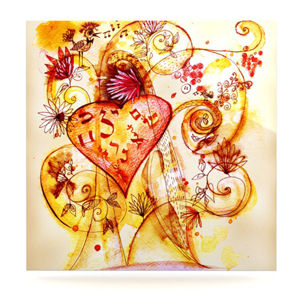 "Marianna Tankelevich ""Tree of Love"" Luxe Square Panel - KESS InHouse  - 1"