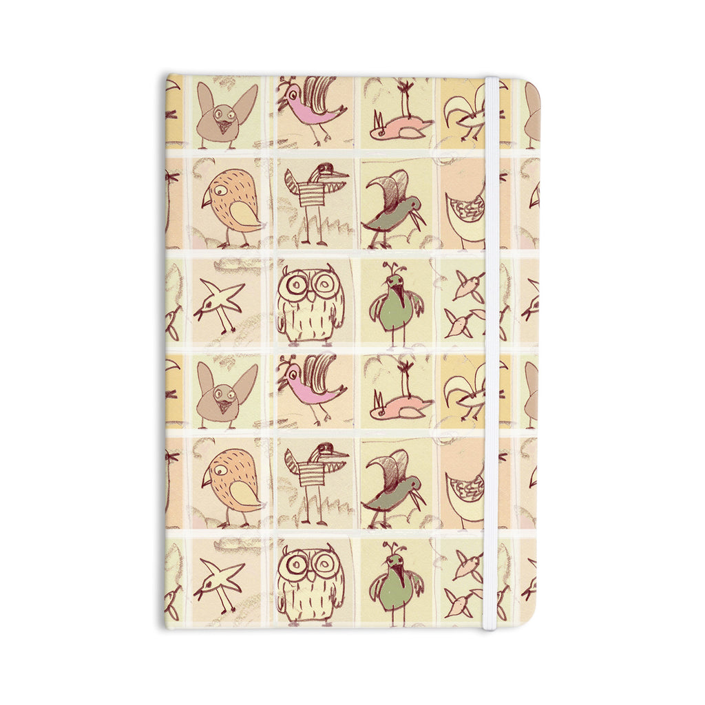 "Marianna Tankelevich ""Birdies"" Yellow Brown Everything Notebook - KESS InHouse  - 1"