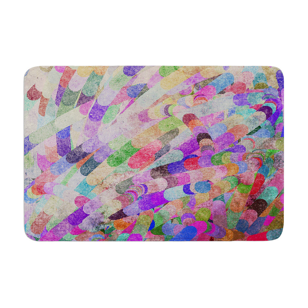 "Marianna Tankelevich ""Abstract"" Rainbow Memory Foam Bath Mat - KESS InHouse"