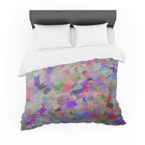 "Marianna Tankelevich ""Abstract Puppy"" Rainbow Featherweight Duvet Cover - Outlet Item"