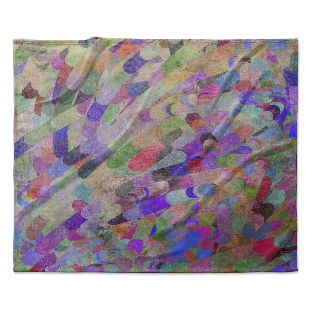 "Marianna Tankelevich ""Abstract"" Rainbow Fleece Throw Blanket"