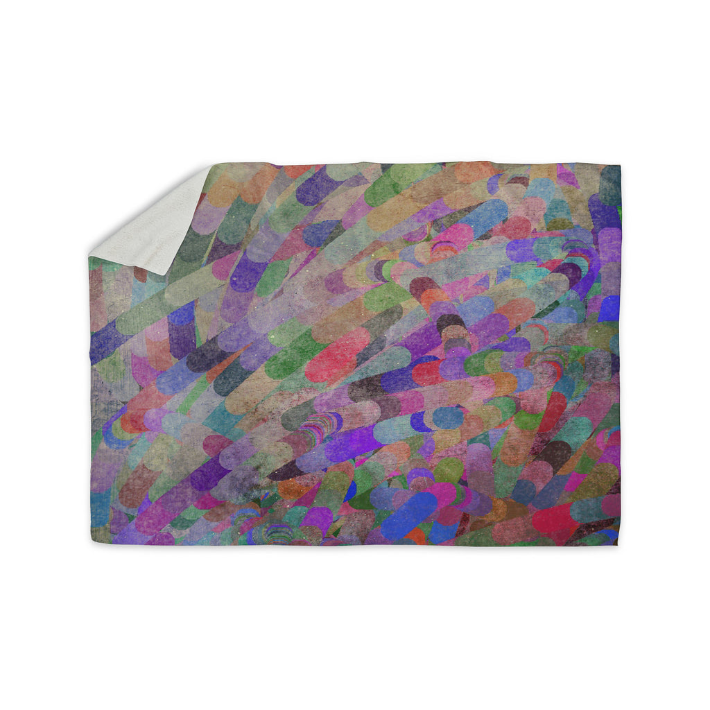 "Marianna Tankelevich ""Abstract"" Rainbow Sherpa Blanket - KESS InHouse  - 1"