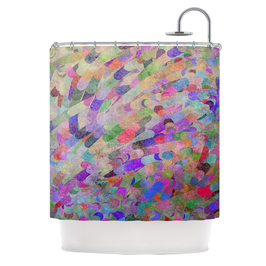 "Marianna Tankelevich ""Abstract"" Rainbow Shower Curtain - KESS InHouse"