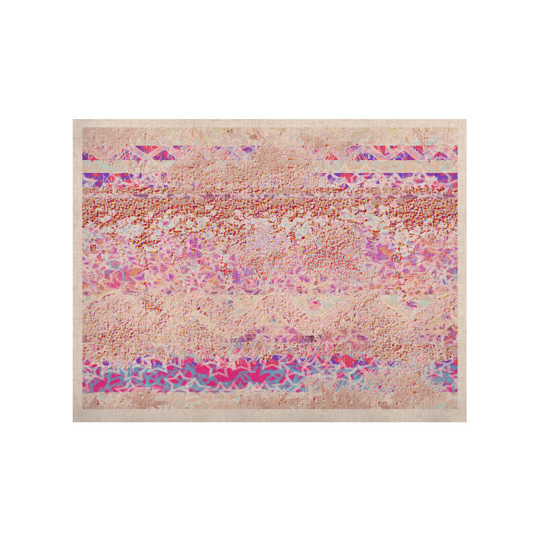 "Marianna Tankelevich ""Broken Pattern"" Pink Purple KESS Naturals Canvas (Frame not Included) - KESS InHouse  - 1"