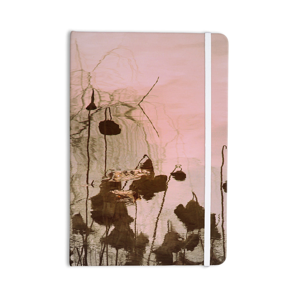 "Marianna Tankelevich ""Lotus Dream"" Flower Pink Everything Notebook - KESS InHouse  - 1"