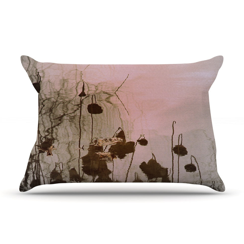 "Marianna Tankelevich ""Lotus Dream"" Flower Pink Pillow Sham - KESS InHouse"
