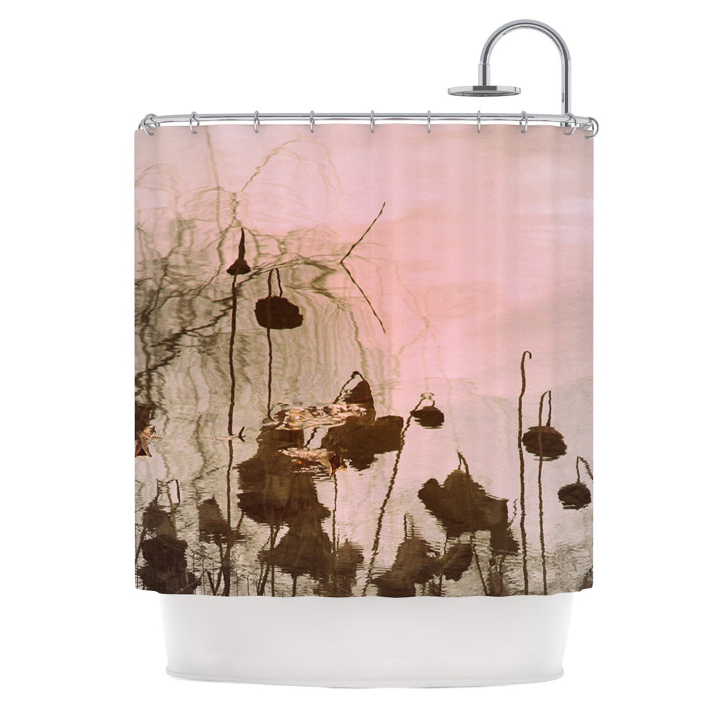 "Marianna Tankelevich ""Lotus Dream"" Flower Pink Shower Curtain - KESS InHouse"