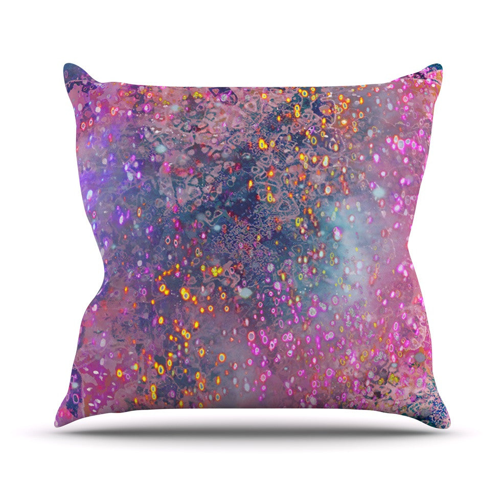 "Marianna Tankelevich ""Pink Universe"" Pink Purple Throw Pillow - KESS InHouse  - 1"