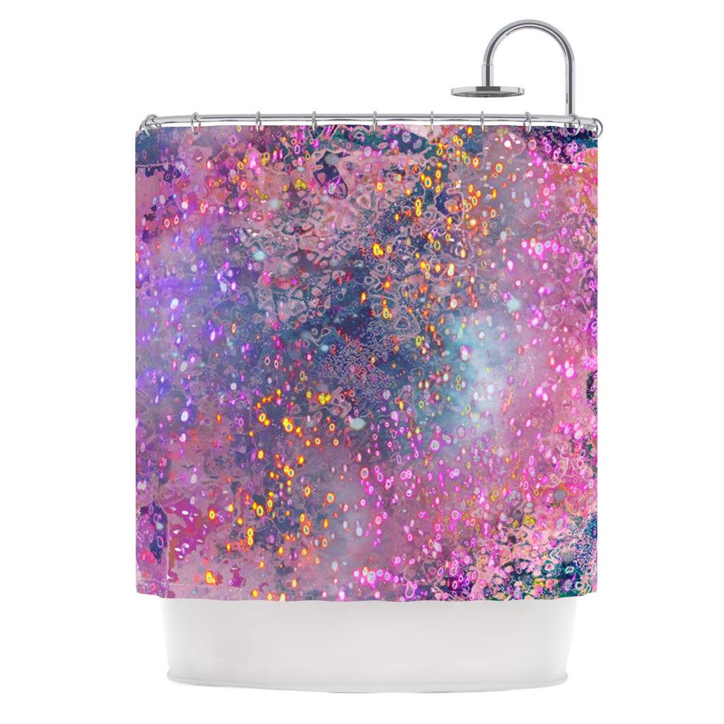 Marianna Tankelevich Pink Universe Purple Shower Curtain