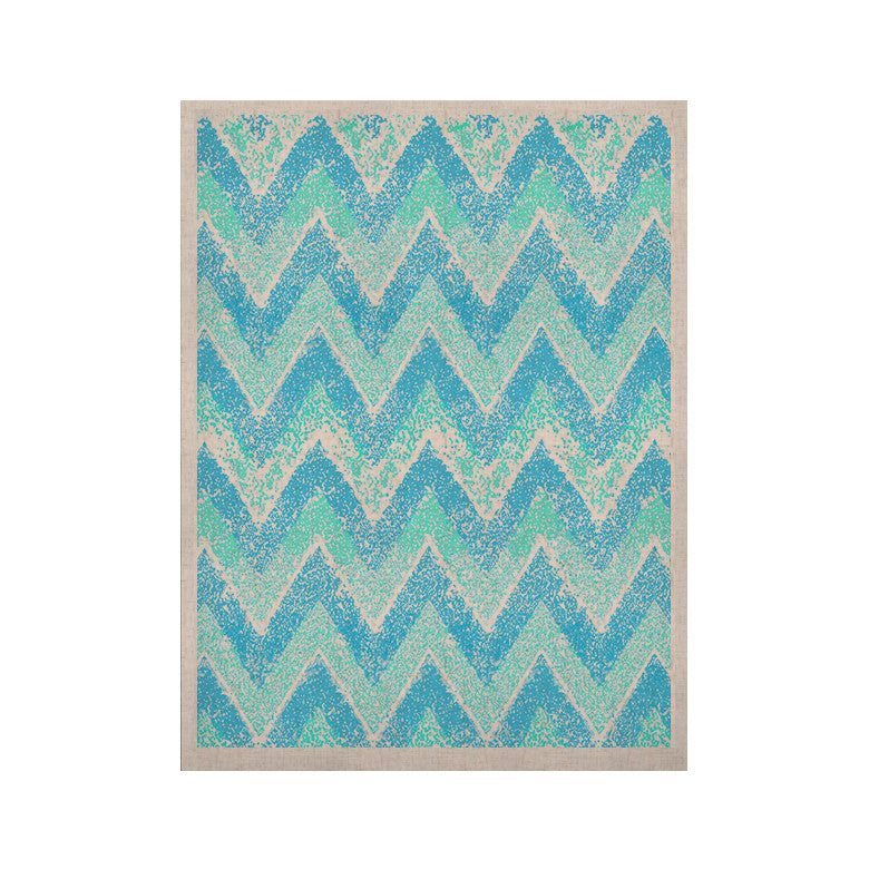 "Marianna Tankelevich ""Mint Snow Chevron"" Blue Chevron KESS Naturals Canvas (Frame not Included) - KESS InHouse  - 1"