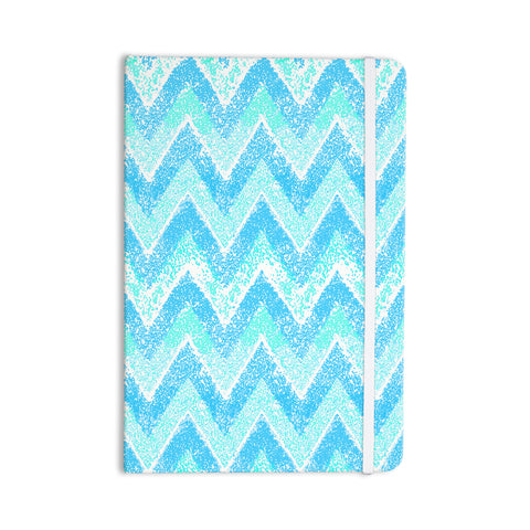 "Marianna Tankelevich ""Mint Snow Chevron"" Blue Chevron Everything Notebook - Outlet Item"