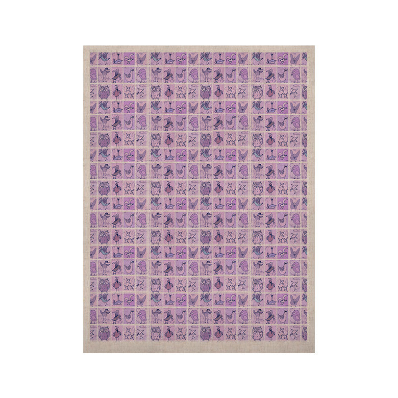 "Marianna Tankelevich ""Cute Birds Purple"" Pink Lavender KESS Naturals Canvas (Frame not Included) - KESS InHouse  - 1"