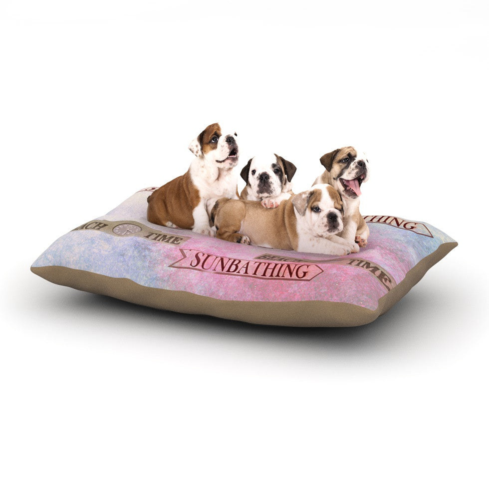 "Marianna Tankelevich ""Beach Time"" Pink Purple Dog Bed - KESS InHouse  - 1"