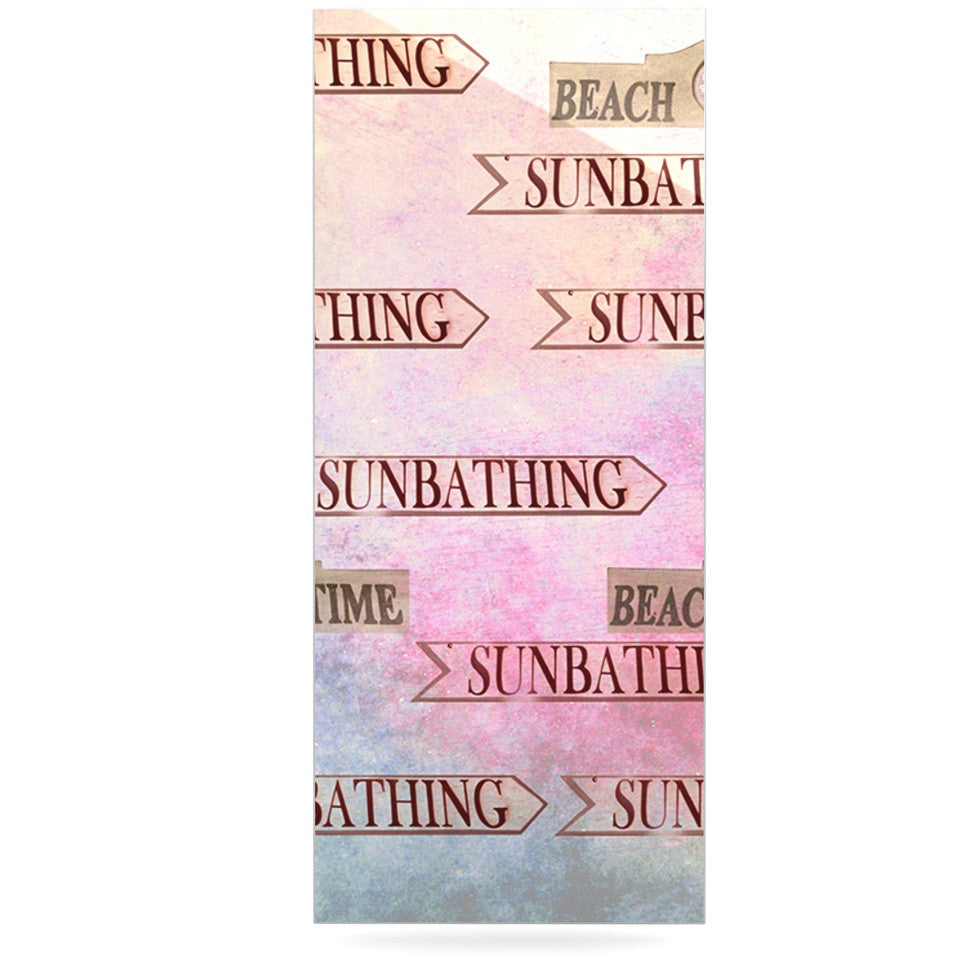 "Marianna Tankelevich ""Beach Time"" Pink Purple Luxe Rectangle Panel - KESS InHouse  - 1"