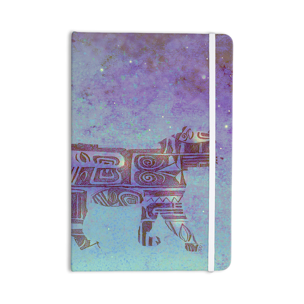 "Marianna Tankelevich ""Panther at Night"" Purple Blue Everything Notebook - KESS InHouse  - 1"