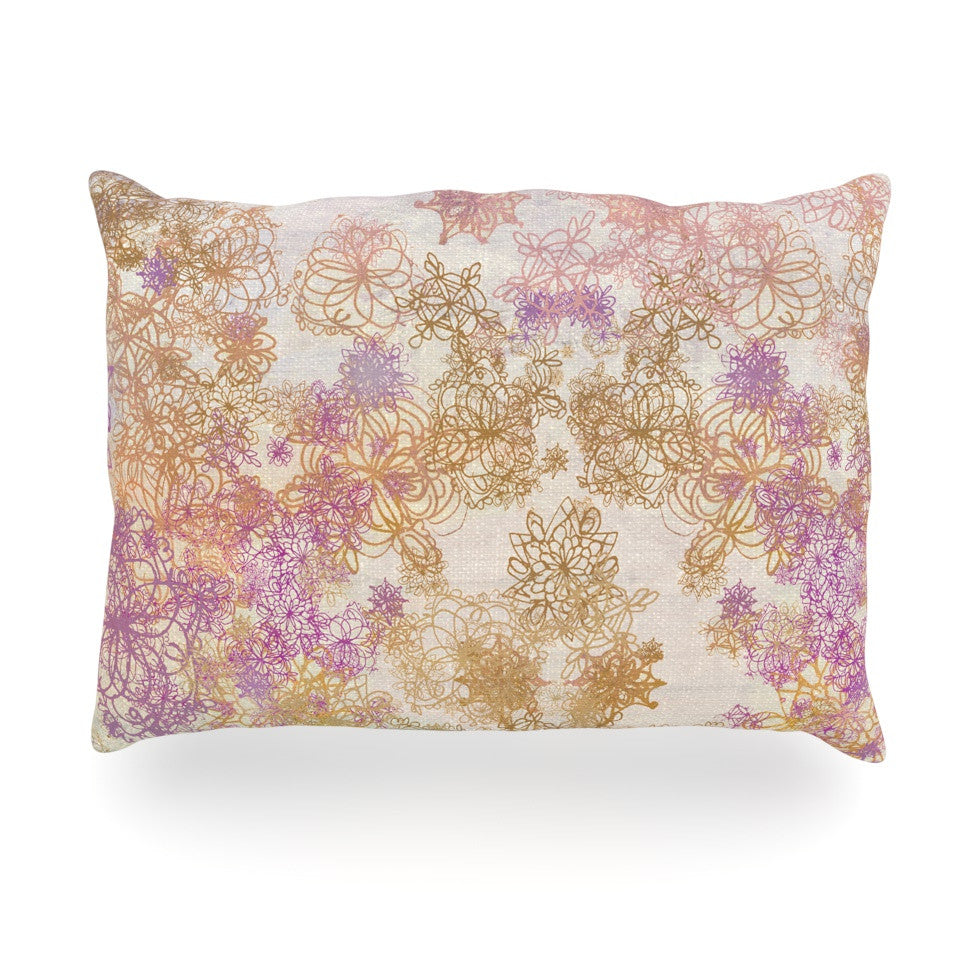 "Marianna Tankelevich ""Retro Summer"" Yellow Pink Oblong Pillow - KESS InHouse"