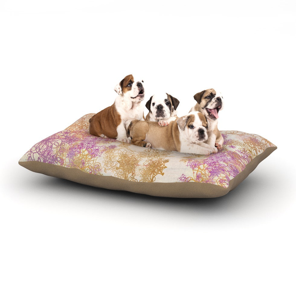 "Marianna Tankelevich ""Retro Summer"" Yellow Pink Dog Bed - KESS InHouse  - 1"