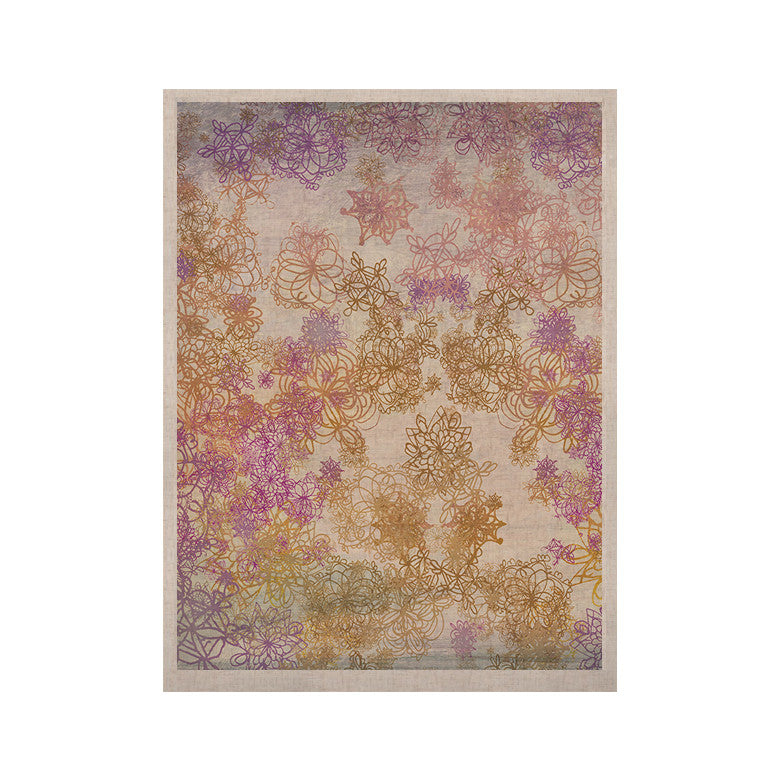 "Marianna Tankelevich ""Retro Summer"" Yellow Pink KESS Naturals Canvas (Frame not Included) - KESS InHouse  - 1"