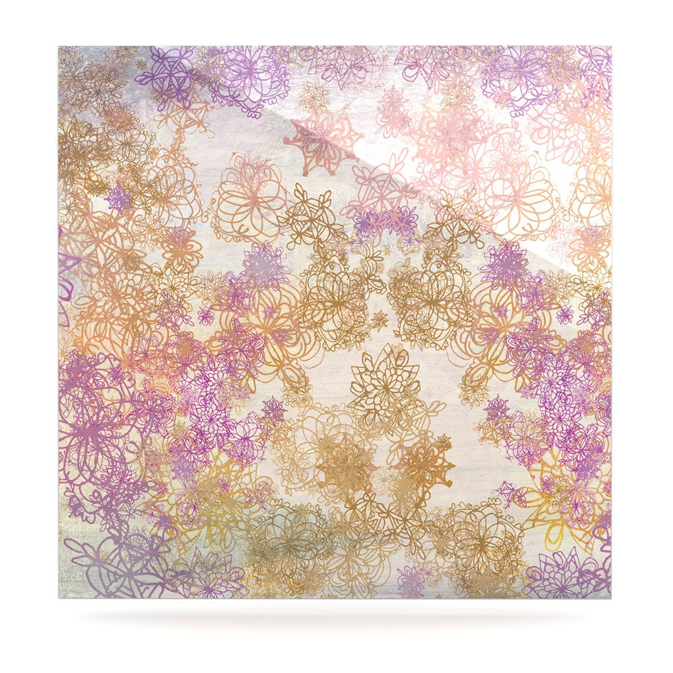 "Marianna Tankelevich ""Retro Summer"" Yellow Pink Luxe Square Panel - KESS InHouse  - 1"