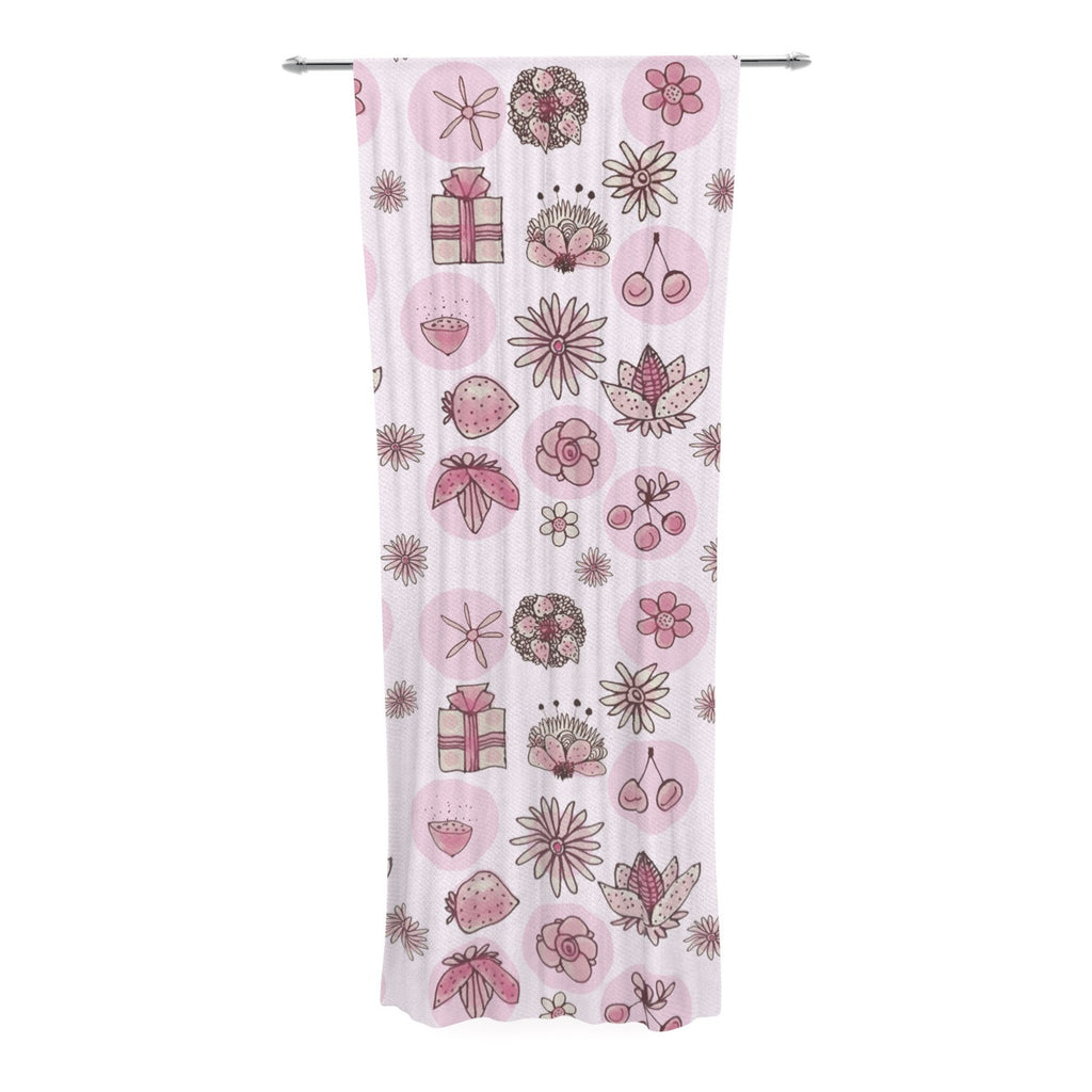 "Marianna Tankelevich ""Cute Stuff"" Pink Illustration Decorative Sheer Curtain - KESS InHouse  - 1"
