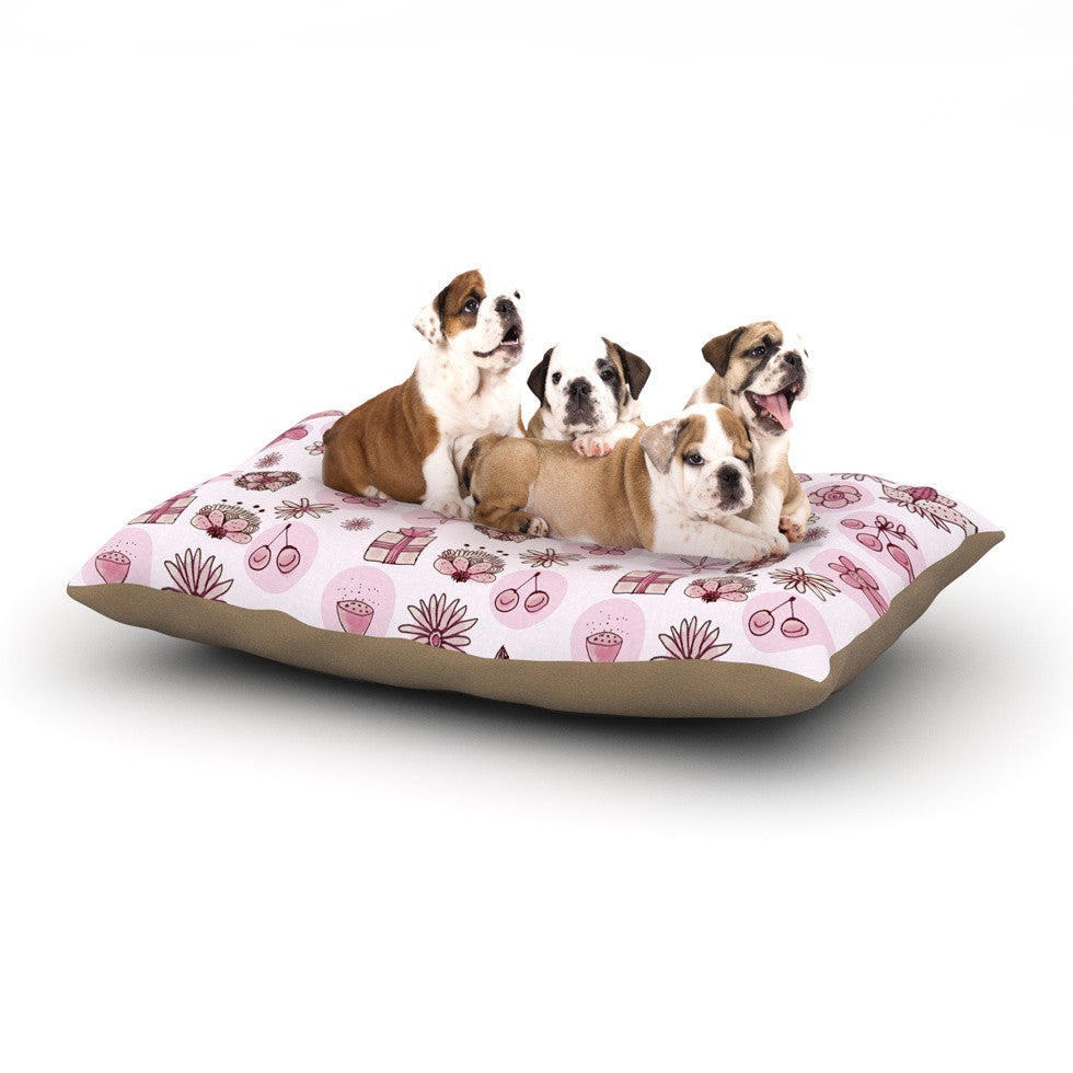 "Marianna Tankelevich ""Cute Stuff"" Pink Illustration Dog Bed - KESS InHouse  - 1"
