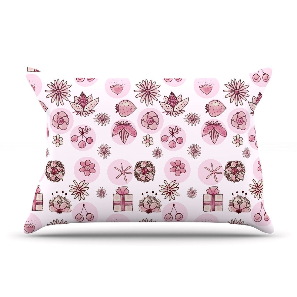 "Marianna Tankelevich ""Cute Stuff"" Pink Illustration Pillow Sham - KESS InHouse"