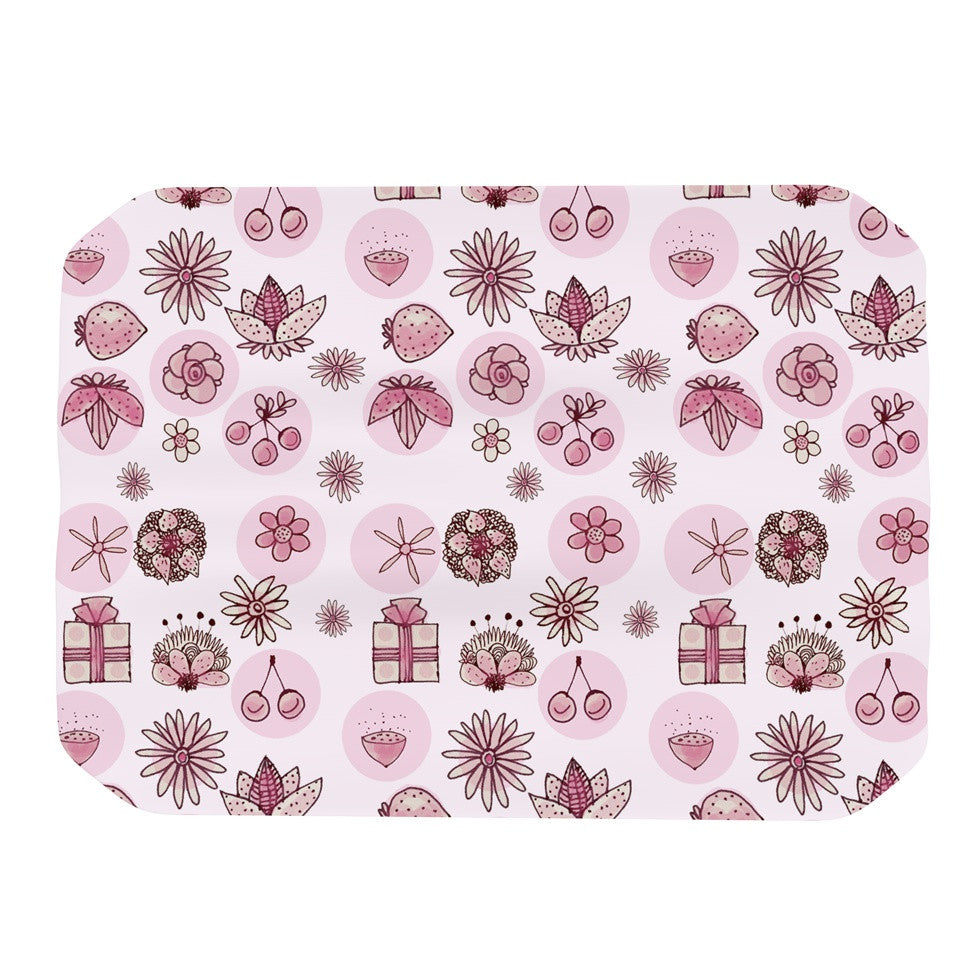 "Marianna Tankelevich ""Cute Stuff"" Pink Illustration Place Mat - KESS InHouse"