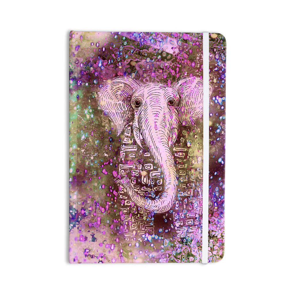 "Marianna Tankelevich ""Pink Dust Magic"" Elephant Sparkle Everything Notebook - KESS InHouse  - 1"