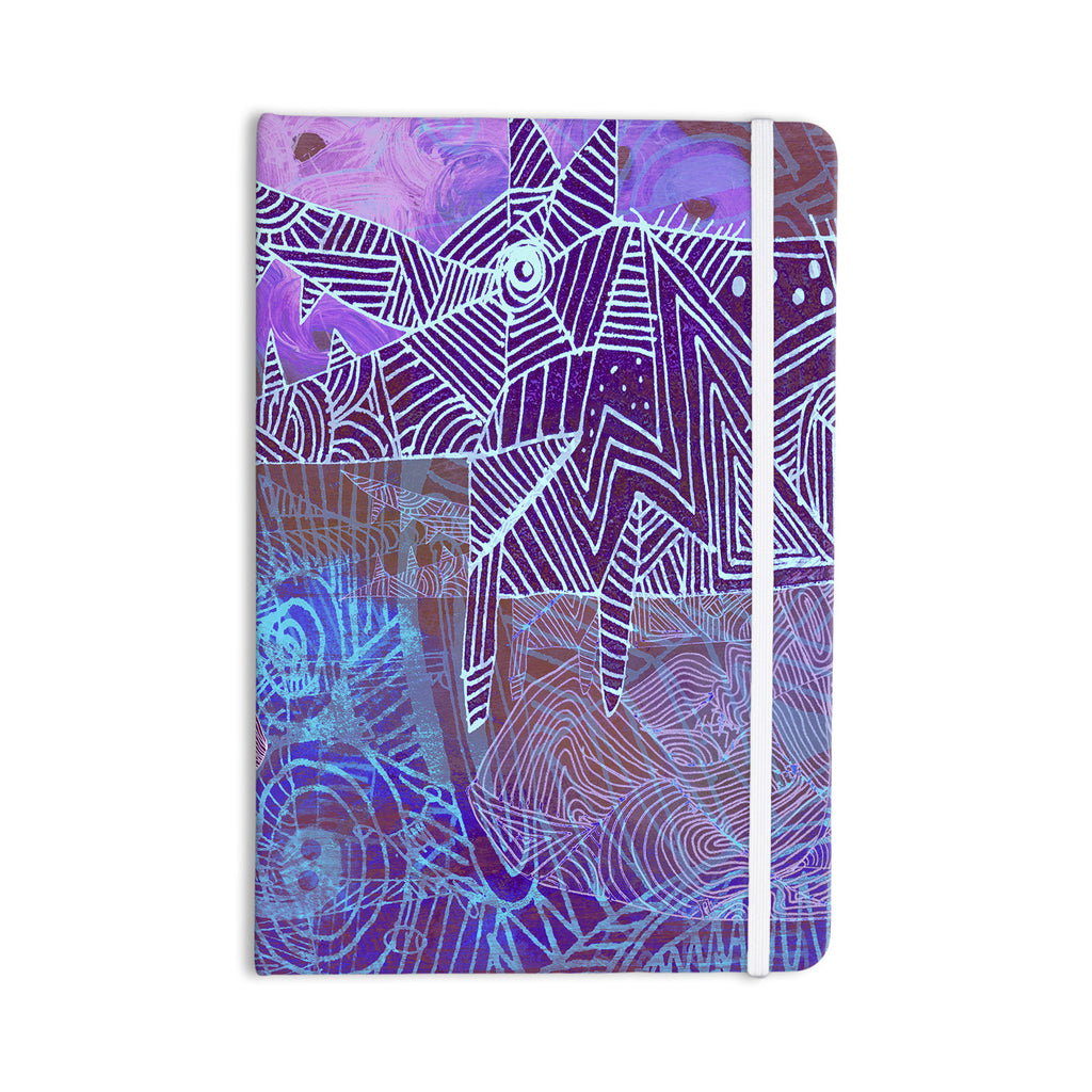 "Marianna Tankelevich ""Abstract With Wolf"" Purple Illustration Everything Notebook - KESS InHouse  - 1"