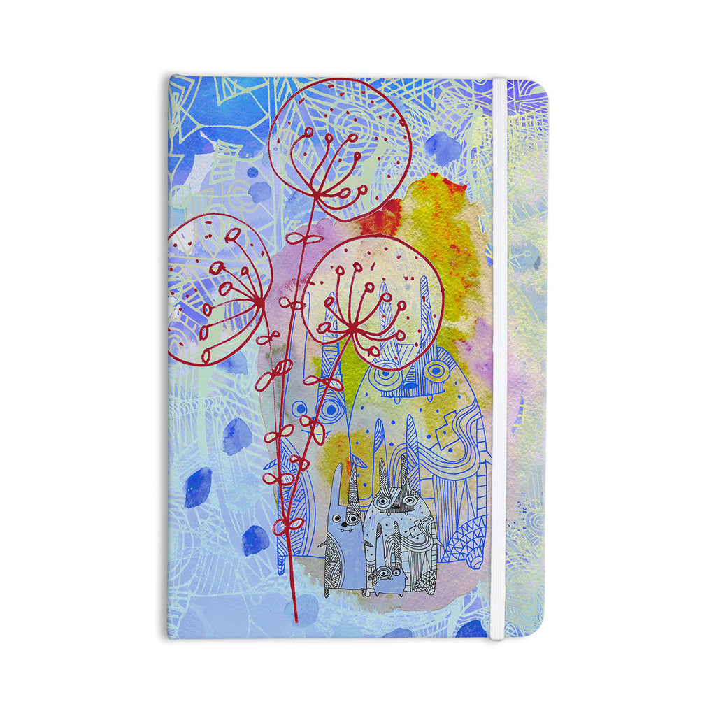 "Marianna Tankelevich ""Composition with Bunnies in Blue"" Abstract Rabbits Everything Notebook - KESS InHouse  - 1"