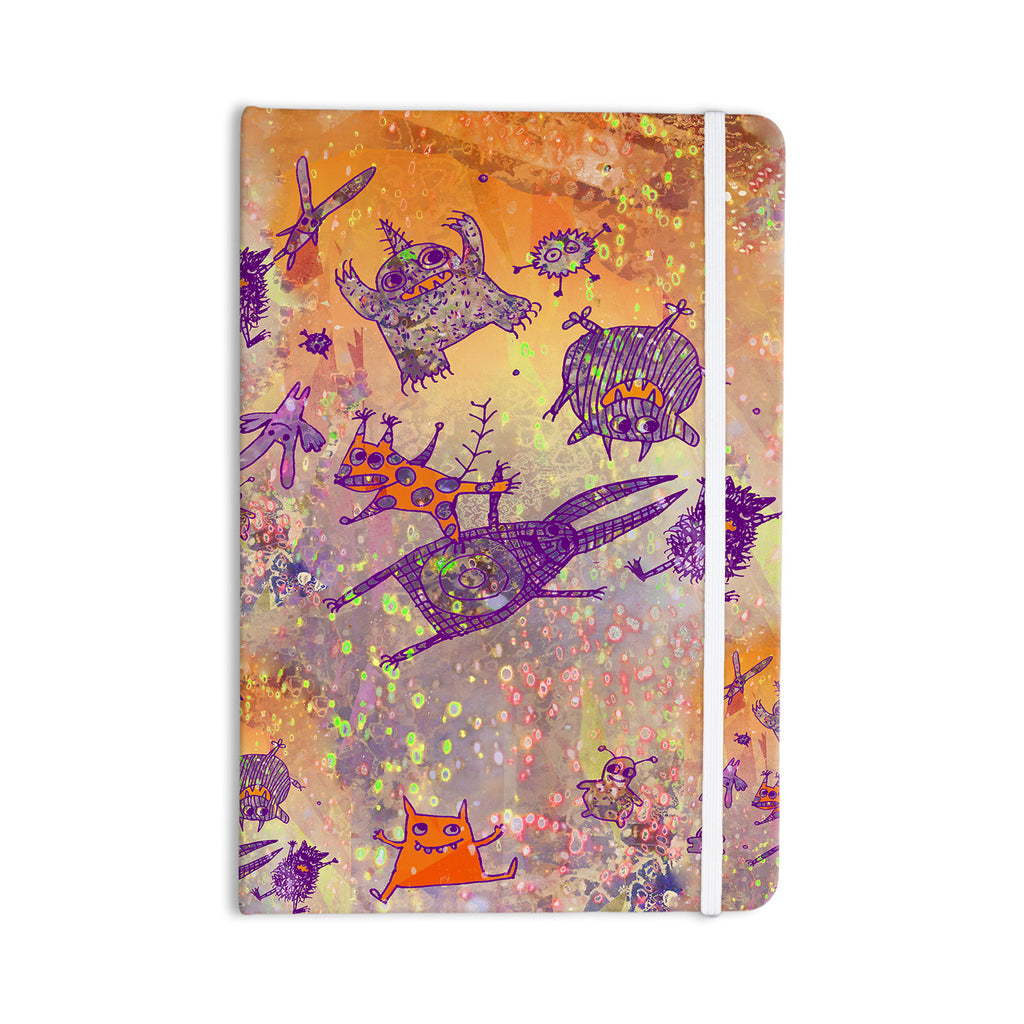 "Marianna Tankelevich ""Levitating Monsters"" Orange Purple Everything Notebook - KESS InHouse  - 1"