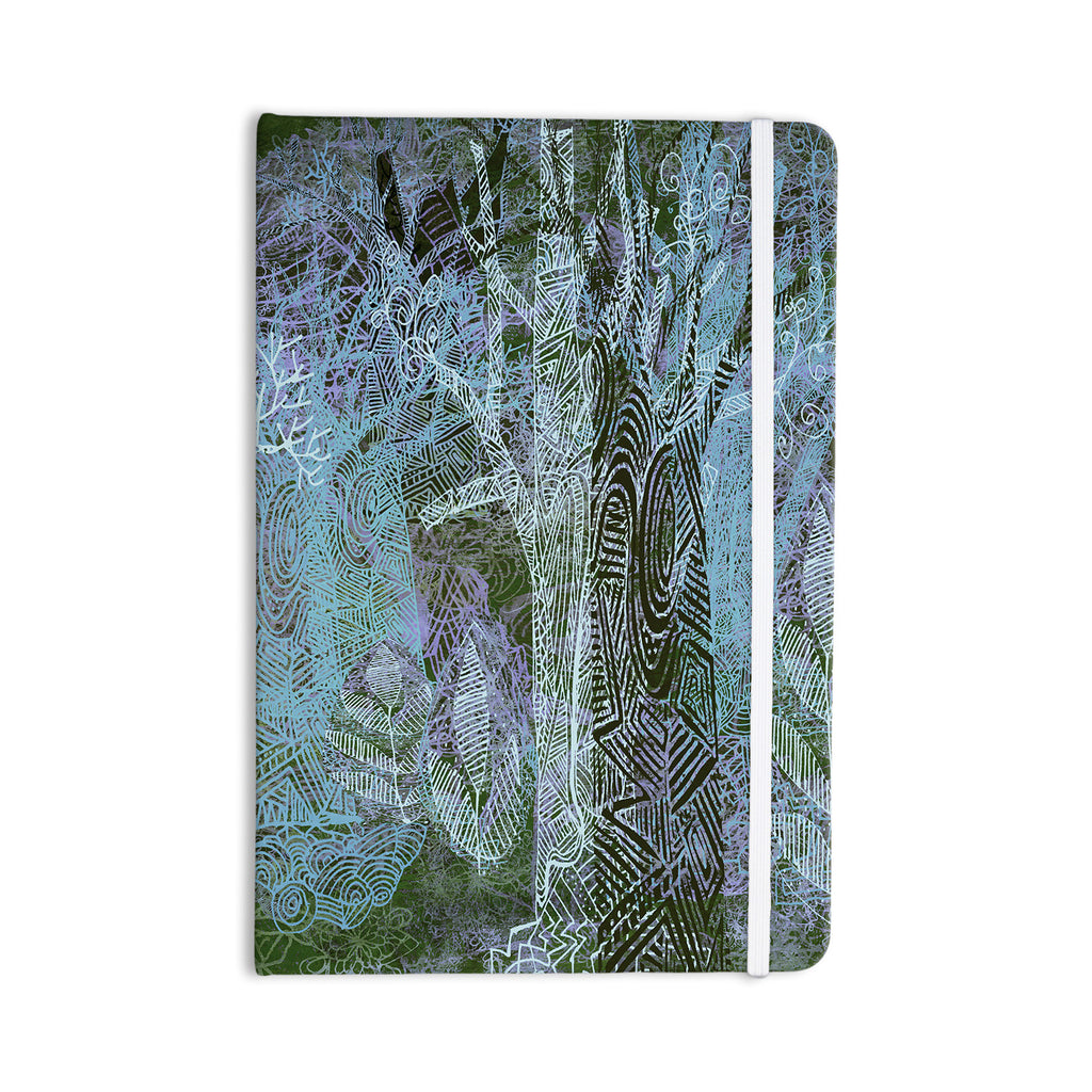 "Marianna Tankelevich ""Wild Forest"" Blue Trees Everything Notebook - KESS InHouse  - 1"