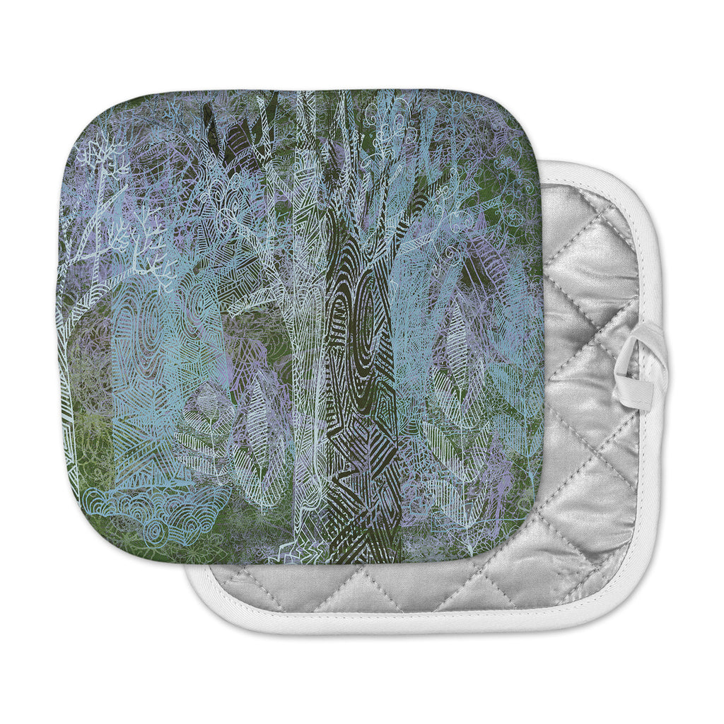 "Marianna Tankelevich ""Wild Forest"" Blue Trees Pot Holder"