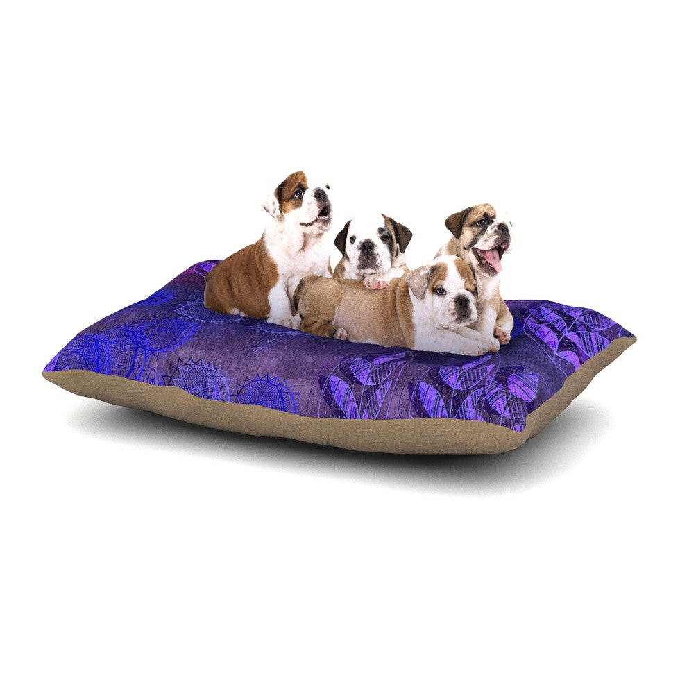 "Marianna Tankelevich ""Summer Night"" Purple Lavender Dog Bed - KESS InHouse  - 1"