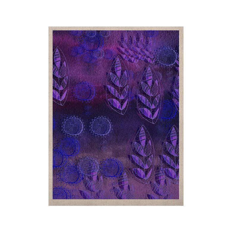 "Marianna Tankelevich ""Summer Night"" Purple Lavender KESS Naturals Canvas (Frame not Included) - KESS InHouse  - 1"