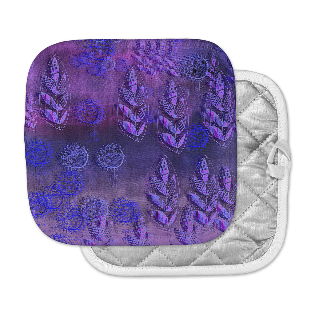 "Marianna Tankelevich ""Summer Night"" Purple Lavender Pot Holder"