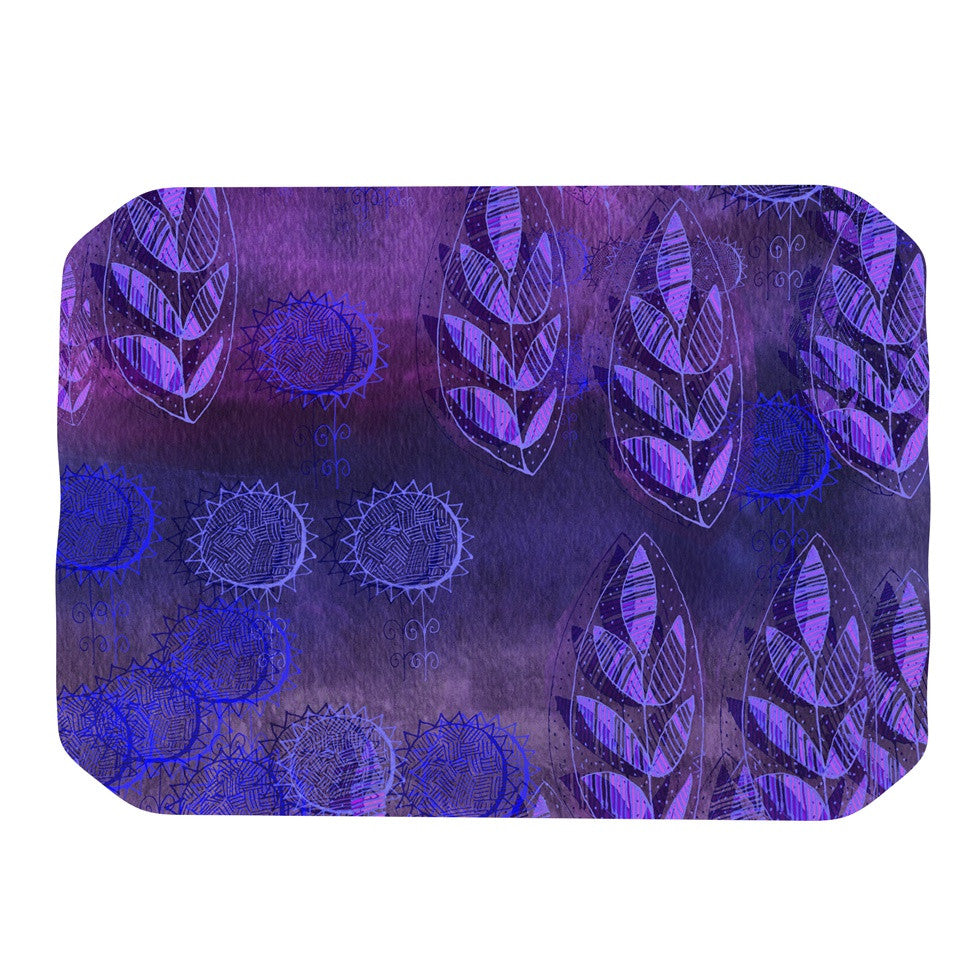 "Marianna Tankelevich ""Summer Night"" Purple Lavender Place Mat - KESS InHouse"