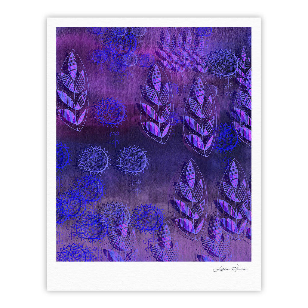 "Marianna Tankelevich ""Summer Night"" Purple Lavender Fine Art Gallery Print - KESS InHouse"