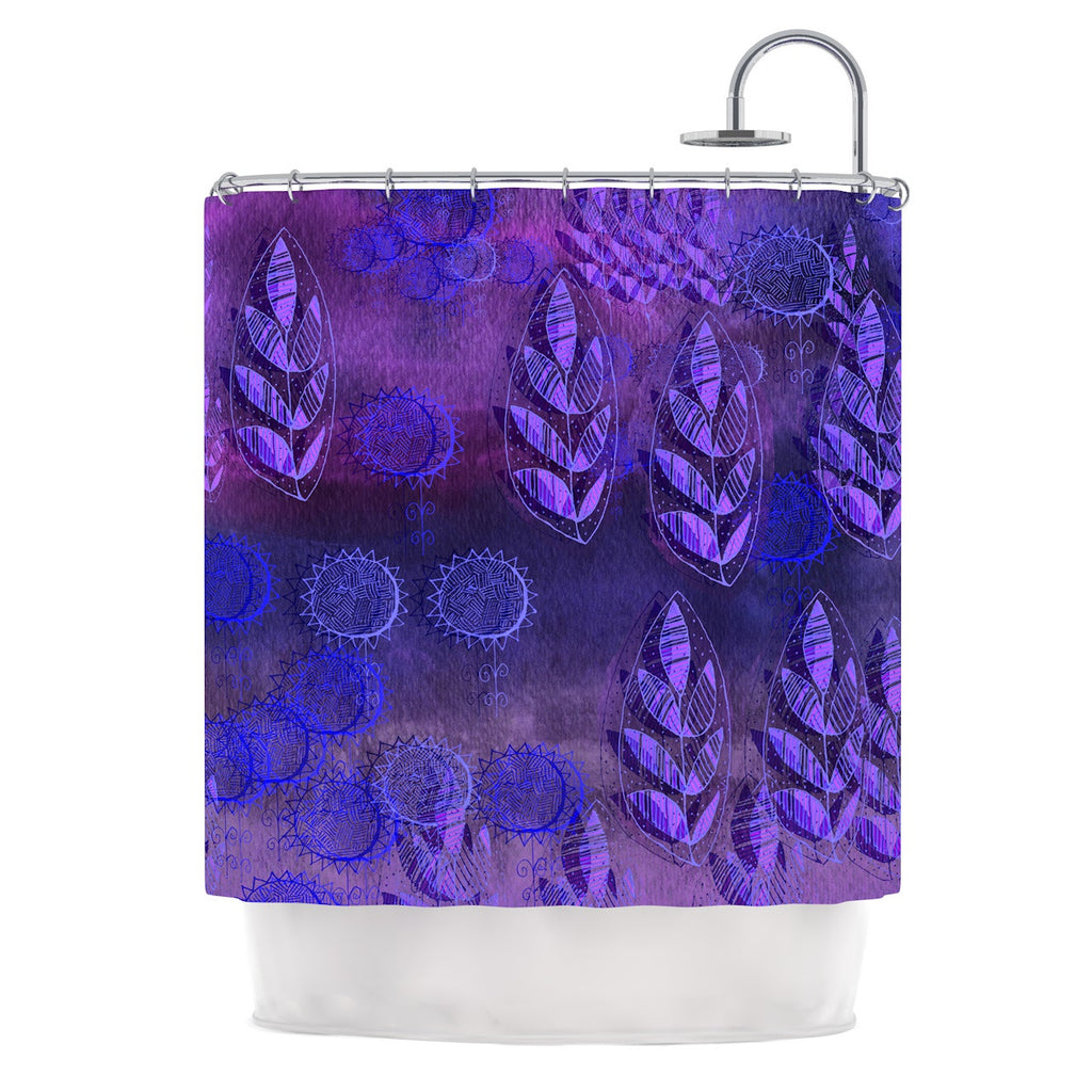 "Marianna Tankelevich ""Summer Night"" Purple Lavender Shower Curtain - KESS InHouse"