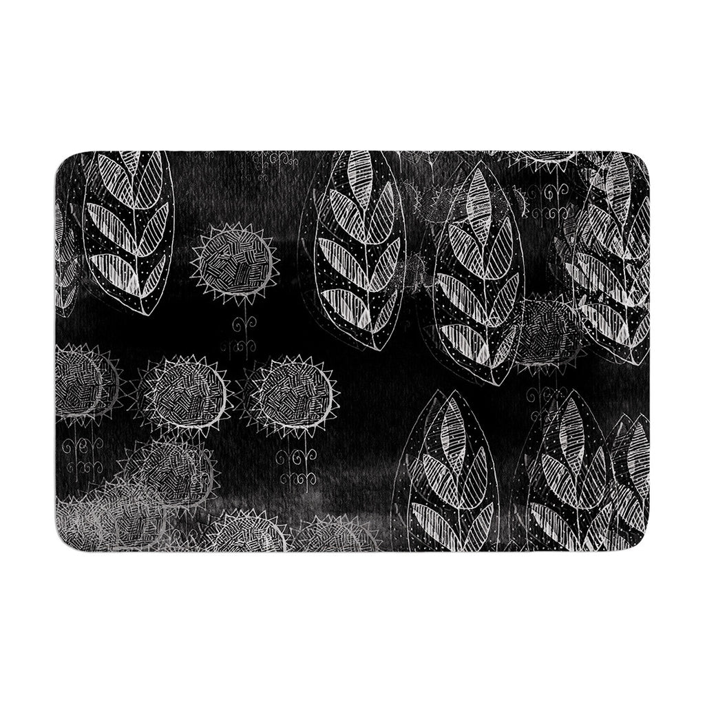"Marianna Tankelevich ""Grey Dream"" Black Gray Memory Foam Bath Mat - KESS InHouse"