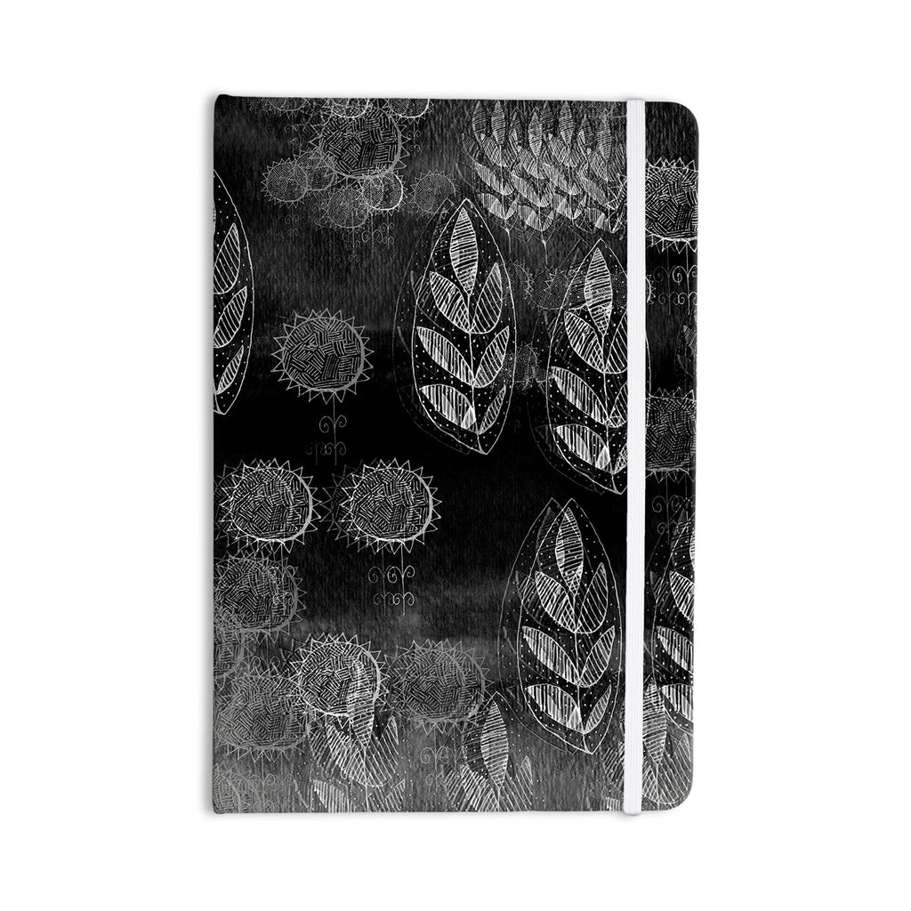 "Marianna Tankelevich ""Grey Dream"" Black Gray Everything Notebook - KESS InHouse  - 1"