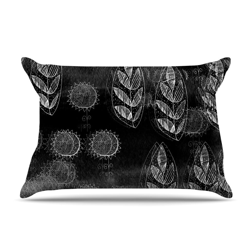 "Marianna Tankelevich ""Grey Dream"" Black Gray Pillow Sham - KESS InHouse"
