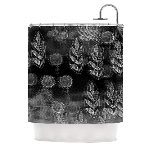 "Marianna Tankelevich ""Grey Dream"" Black Gray Shower Curtain - Outlet Item - KESS InHouse"
