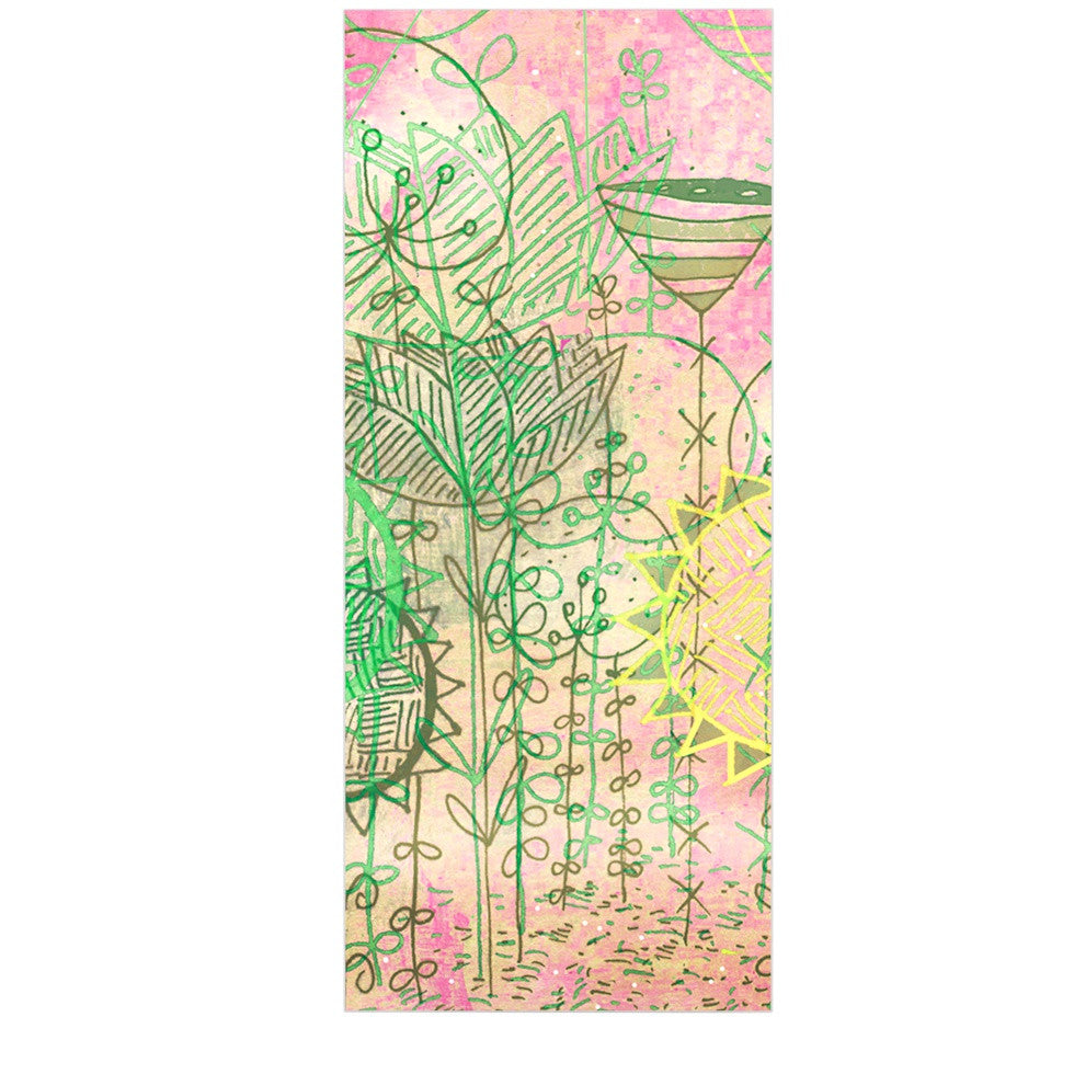 "Marianna Tankelevich ""Pink Dream"" Pink Green Luxe Rectangle Panel - KESS InHouse  - 1"