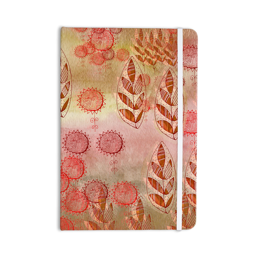 "Marianna Tankelevich ""Summer Music"" Red Orange Everything Notebook - KESS InHouse  - 1"