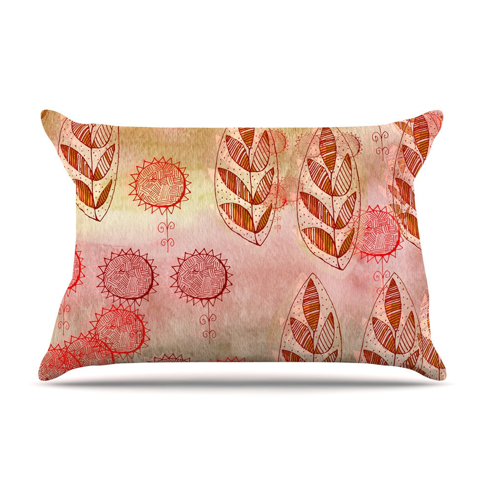 "Marianna Tankelevich ""Summer Music"" Red Orange Pillow Sham - KESS InHouse"